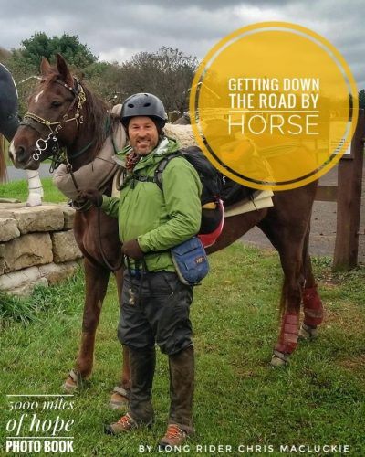 Getting down the road by horse